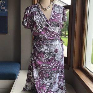 Athleta Wrap Dress.   Poly & Spandex Large